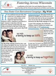 Fostering Across Wisconsin cover