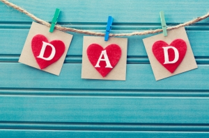 String of letters spelling DAD